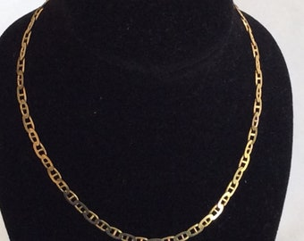 14K vintage yellow gold necklace # G 128
