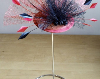 Red Hat Fascinator for Weddings, Races, and Special Occasion