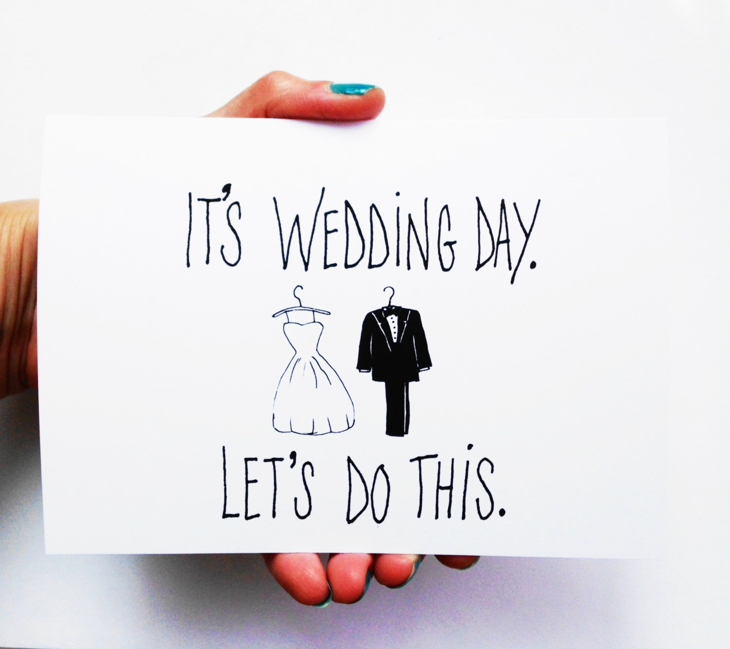 Funny Wedding Card It\'s Wedding Day Let\'s Do This