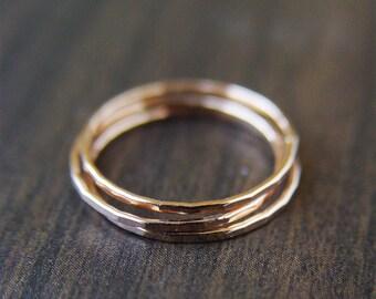Rose Gold Wedding Ring Set