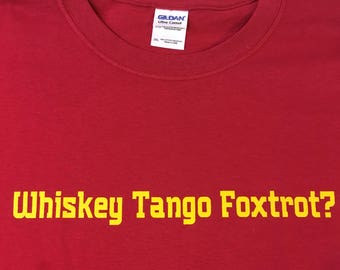 Whiskey Tango Foxtrot phonetic Ham Radio T shirt, amateur radio shirt