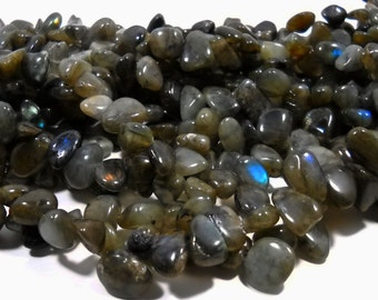 Green Labradorite Nugget Beads 10mm - 20mm