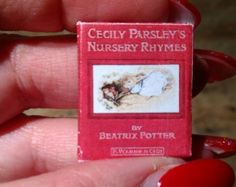Dolls House 12th Scale Cecily Parsley's Nursery Rhymes  by Beatrix Potter. Kit form miniature book.
