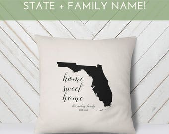 Mother's Day Gift for Her | State Love | Family Name Established | Personalized Wedding Gift | Housewarming Gift | New Family Home State