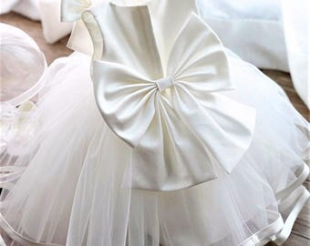 Baptism Dress, Christening Dress, Christening Dress, Baptism Dress, Wedding Dress, Flower Girl Dresses, Tutu Dress, Off-White Dress