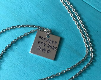 Poehler Fey 2020 Handstamped Necklace