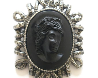 HARRIET Medusa Brooch. Use with Handbag or Scarf. FAST Shipping for US Buyers. Will arrive in Gift Box w/Ribbon. The Perfect Gift.