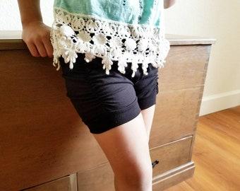 Black Ruched Shorts