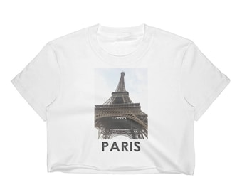 PARIS | Eiffel Tower | Women's Crop Top Shirt