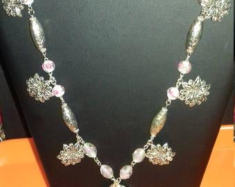 Necklace mid-length fantasy, original, handmade women