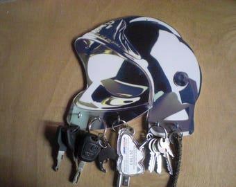 Sapper firefighters helmet Keychain, key/fire helmet hanging keys wall hang