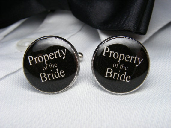 Property of the Bride Cufflinks Grooms Corner Wedding