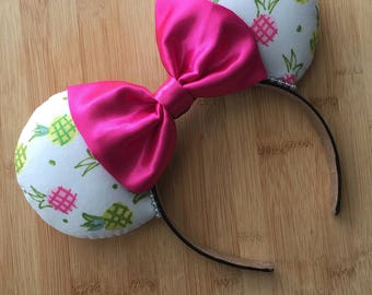 Pineapple Mouse Ears, Summer Dole Whip ears, Pineapple Minnie Ears