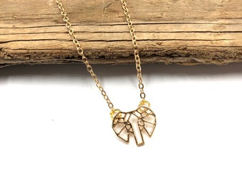 GEO ELEPHANT: delicate gold elephant necklace