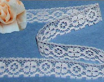 Ivory Lace Trim 12/24 Yards Vintage Picot 3/4 inch wide Lot N58 Added Items Ship No Charge