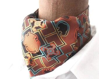 Ascot, retro design, orange-brown-lightblue,  woven