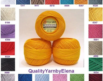 100% mercerized cotton yarn knitting crochet by yarnart canarias 20g 203 m (222 yards)
