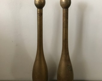 Antique Indian Clubs Wood Pins Club Bowling Pins Victorian Exercise Old School Steampunk Mancave Sporting Goods Wooden Weights