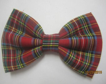 Boy's Christmas bow tie, Red green plaid bow tie, Men's red green bow tie, Boy's X - mas bow tie, Green red plaid bow tie, Holiday bow tie
