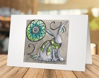 Winter Rabbit - Greeting Card