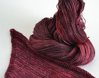 Hand dyed yarn pick your base - Hell's Kitchen - sw merino cashmere nylon fingering dk worsted