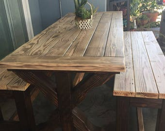 Rustic Patio Table, Rustic Dining Table, Rustic Table, Outdoor Furniture,  Reclaimed Wood