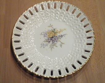 Vintage Collection Plate Blumenbuket
