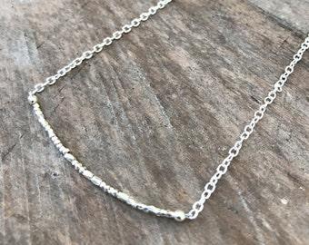 Custom Morse Code Necklace, Karen Hill Tribe Silver Secret Message Necklace