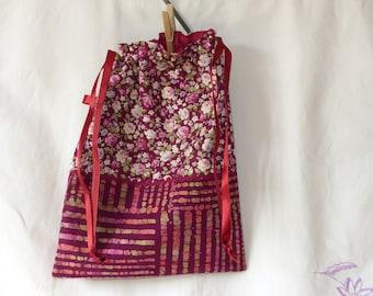 Retro style lingerie pouch