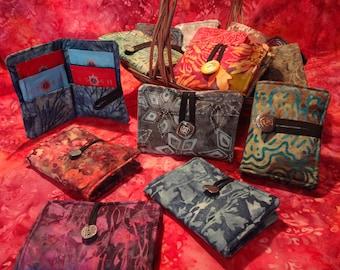 Cotton Batik Fabric Tea Wallet