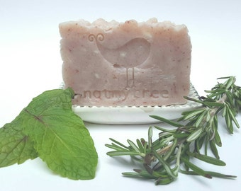 Rosemary Mint Soap, Handmade Soap, Vegan Soap, Natural Soap, Dye Free Soap, Homemade Soap, Stocking Stuffer for Women, Beauty Gift
