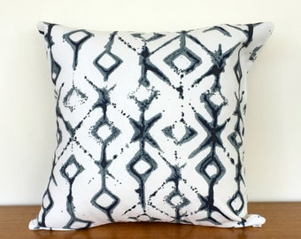 Tribal Print Cushion Cover - Indigo