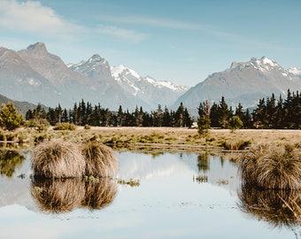 Lake Reid In The Summer, Fine Art Photography, Print, Wall Décor, Home Décor, New Zealand
