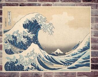 The great wave Kanagawa. Hokusaï poster. Great wave Kanagawa Hokusaï.