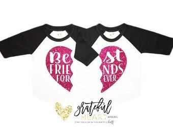 Best Friends shirts, Besties shirts, Mommy and me shirt, Matching shirts, Best Friends forever shirts, shirt sets women, matching tops