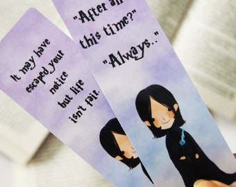 Severus Snape paper bookmark | Harry Potter