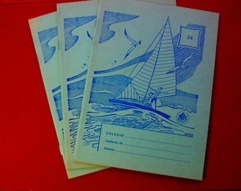 Vintage Spanish A5 Exercise Book - Blank and Unused