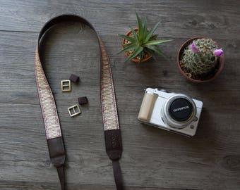 Rose -Cream Camera Strap for DSLR  , Mirror Less ,Compact