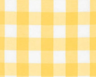 "SUNFLOWER 1"" Plaid Cotton, Carolina Gingham, Scarf Fabric, Quilting fabric, Apparel Fabric, Plaid cotton Scarf, Robert Kaufman"