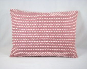 Upholstery Lumbar Pillow Coral and Chenille Decorative Pillow Accent Pillow  Modern Pillow 13x18 Cover
