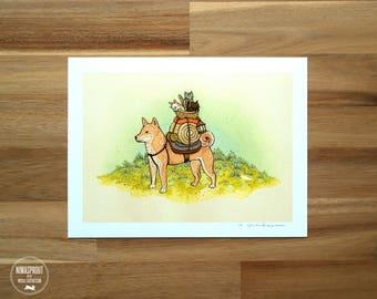 Shiba Inu (RED) Adventure Pup - Fine Art Print by Nicole Gustafsson