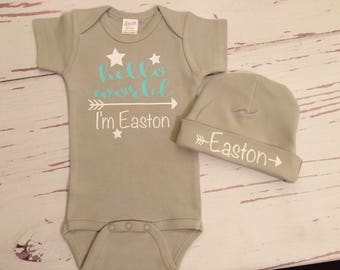 baby boy clothes, baby boy coming home outfit, newborn baby boy take home outfit, worth the wait, shower gift, baby outfit, newborn baby boy