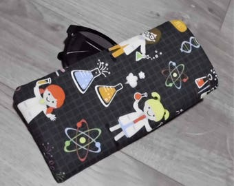 Girl Scientist Fabric Sunglasses Case Eyegasses Case Glasses Sleeve