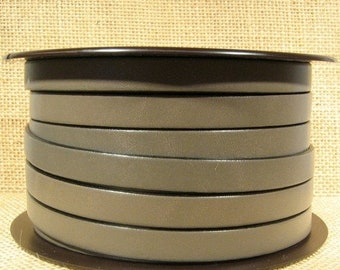 10mm Flat Leather - Putty - 10F-41M - Choose Your Length
