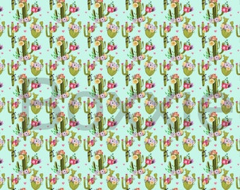 Wrapping paper roll etsy cactus and flower wrapping paper sheet or roll gift wrap cacti botanical mightylinksfo