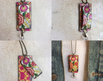 """Tin Jewelry Necklace """"Levitate"""" Tin for the Ten Year Tenth Wedding Anniversary"""
