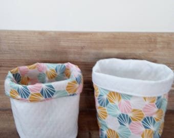 geometric pastel baskets