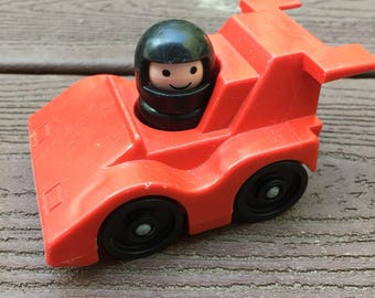 Vintage Fisher-Price Little People Race Car and Driver