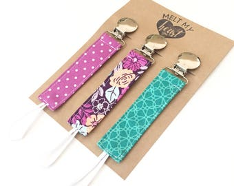 Pacifier Clips - Caroline Collection