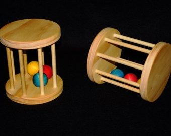Large Wooden Toy Tumbler